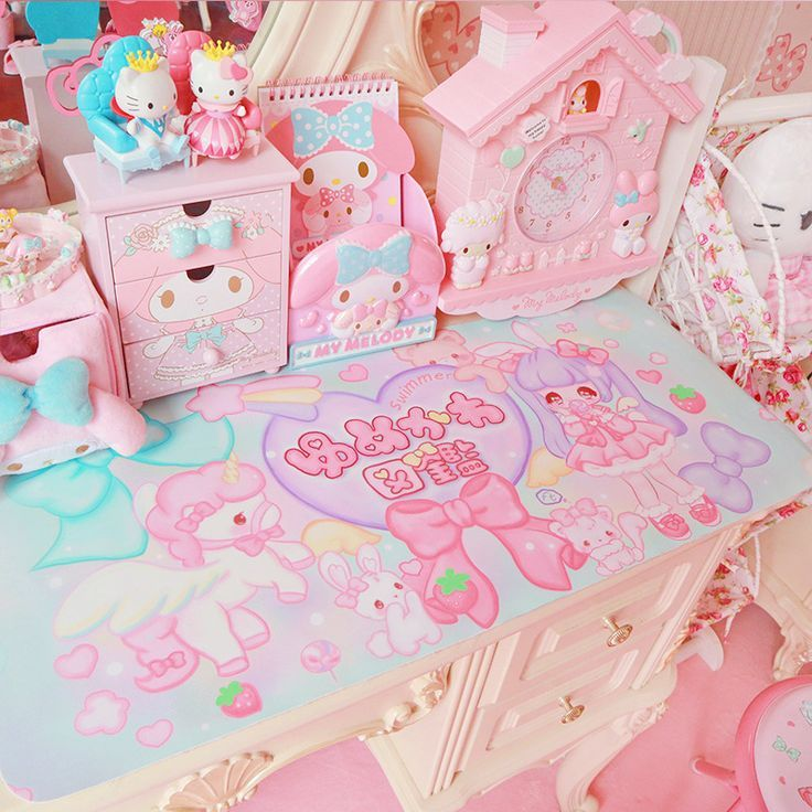 pinklovelypinkie   Kawaii bedroom, Kawaii room, Cute room ...