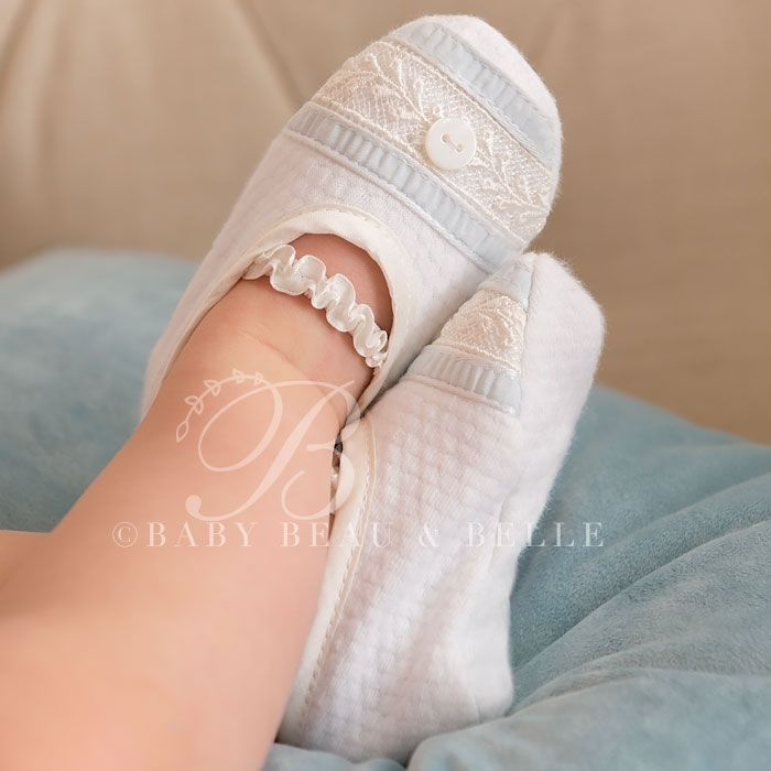 Infant Boy Booties Harrison Christening Baptism Collection Designer Gowns Booties