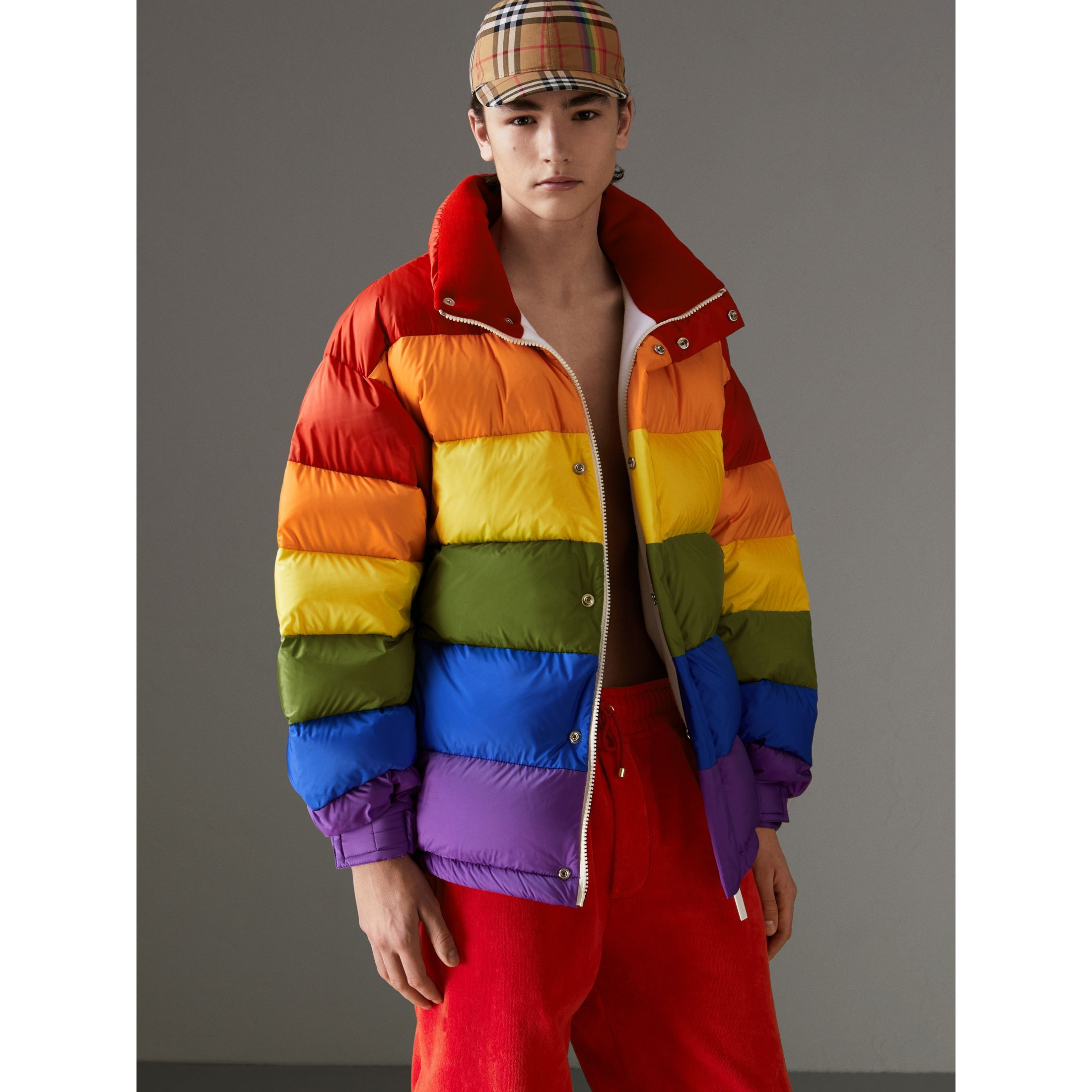 Rainbow Down Filled Puffer Jacket Burberry United States Fashion Jackets Winter Jackets [ 2200 x 2200 Pixel ]