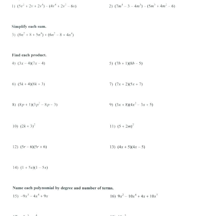 50 Factoring Trinomials Worksheet Answers In 2020 With Images