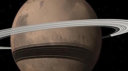 Marte, a punto de tener un anillo como Saturno (dentro de 20 a 40 millones de años) al caer la luna Fobos