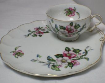 5 sets of Vintage Porcelain Luncheon Plates and Tea Cups in Flower Pattern Gold Trim - Made in Japan - Edit Listing - Etsy