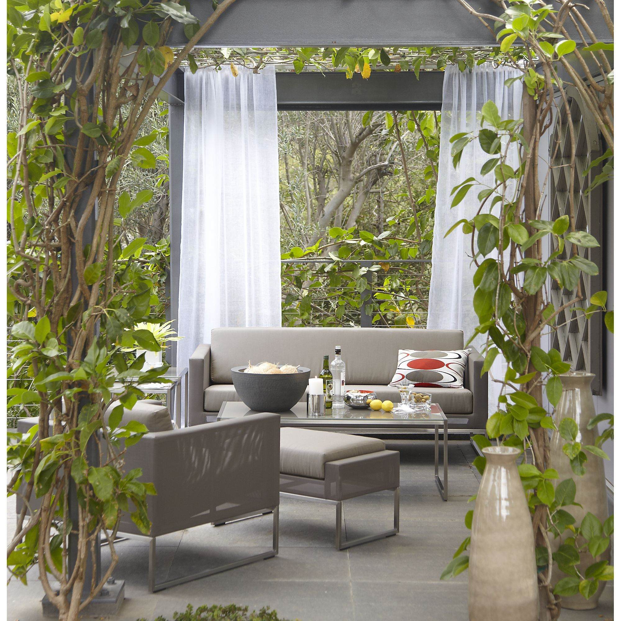 Dune Taupe Sofa with Sunbrella Cushions + Reviews   Crate ... on Dune Outdoor Living  id=89043