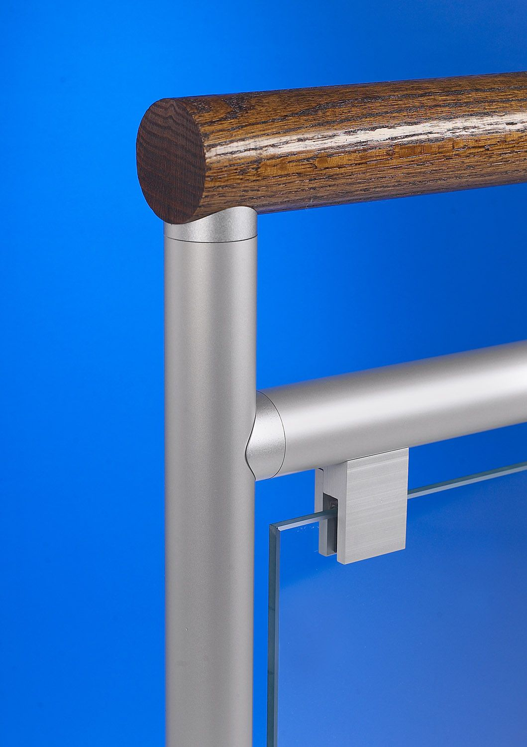 Glass Infill Photo Gallery: Interna-Rail Wood Top Rail Railing Systems With Glass Infill