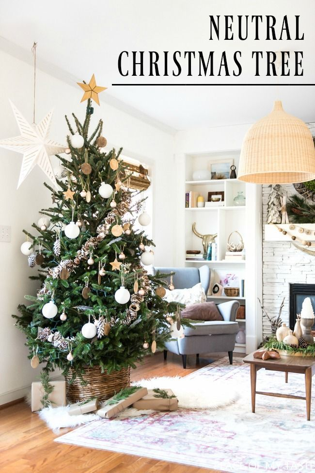 Neutral christmas tree decoration so pretty tree decorations come and see this beautiful neutral christmas tree decoration yourself so pretty and there are solutioingenieria Choice Image