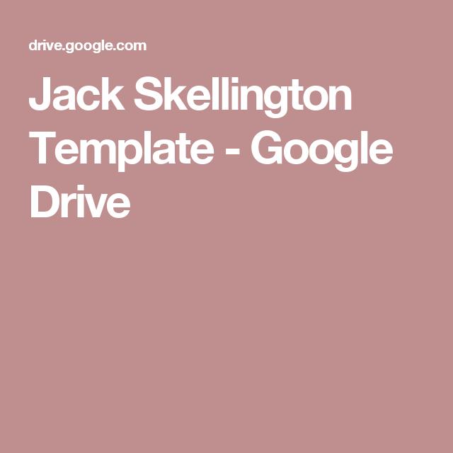 Jack Skellington Template - Google Drive