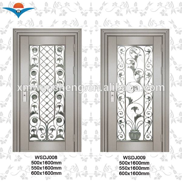 hot sale decorative stainless steel front entry door for sale