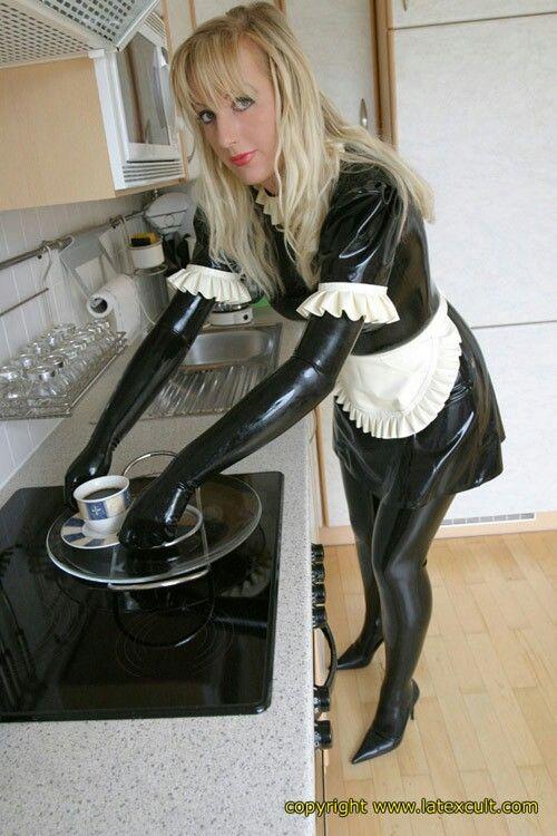 Latex sissy maid sluts