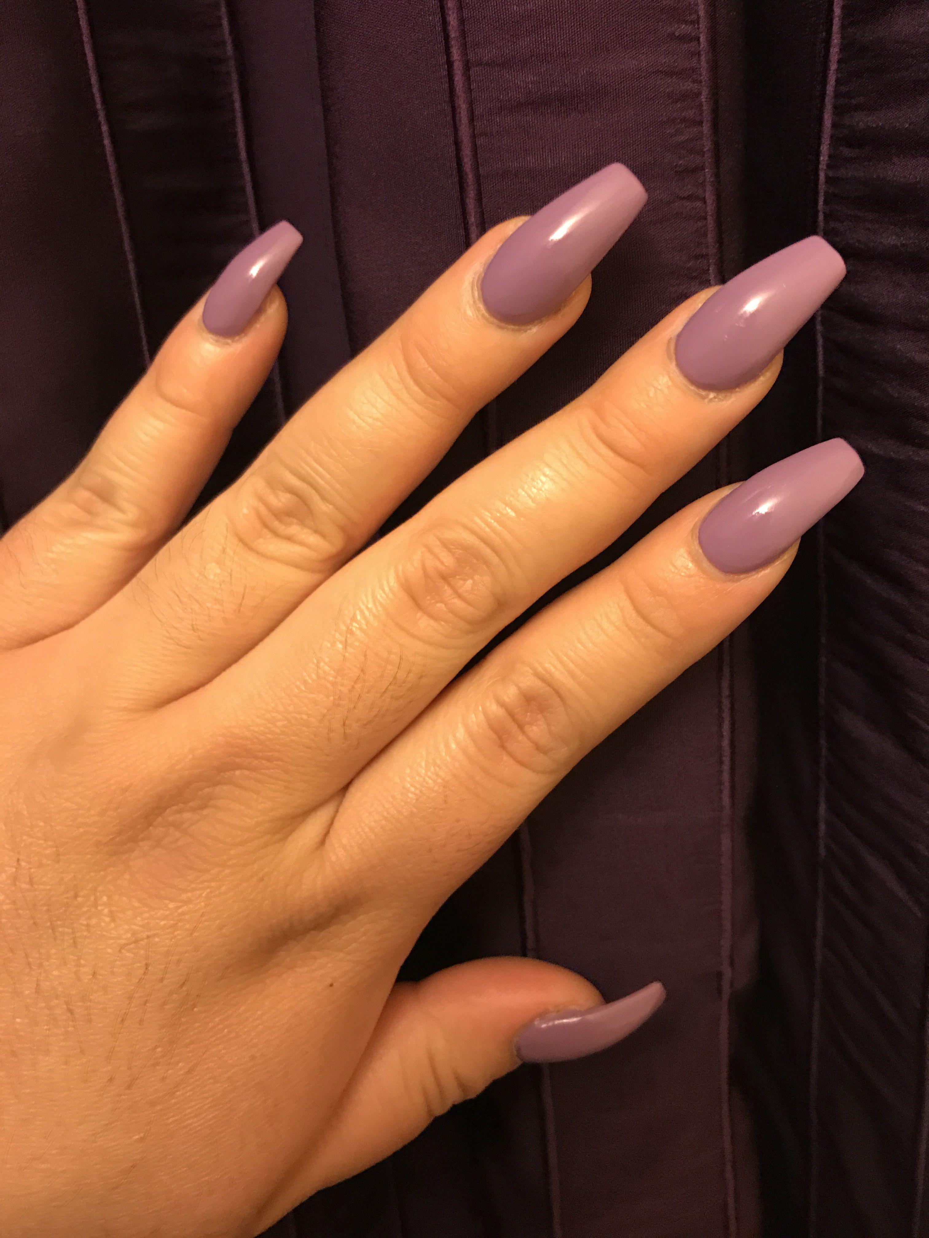Light Purple Coffin Nails Purple Nails Light Purple Nails Simple Nails