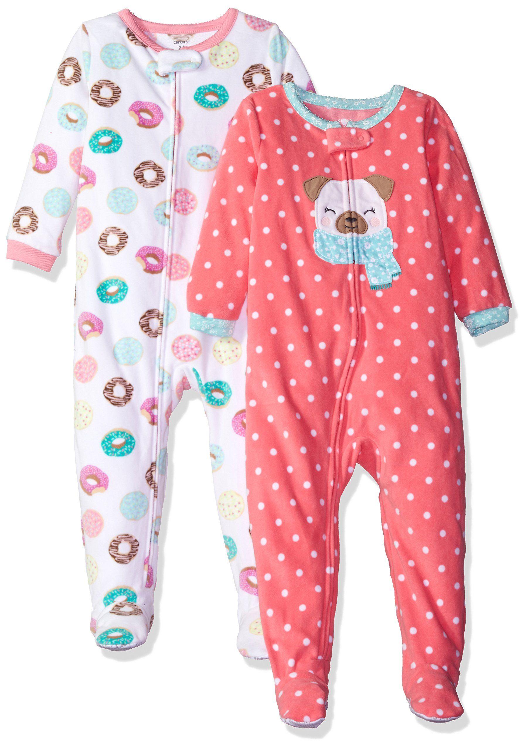 43be85afe Carter s Girls  2-Pack Fleece Pajama Set
