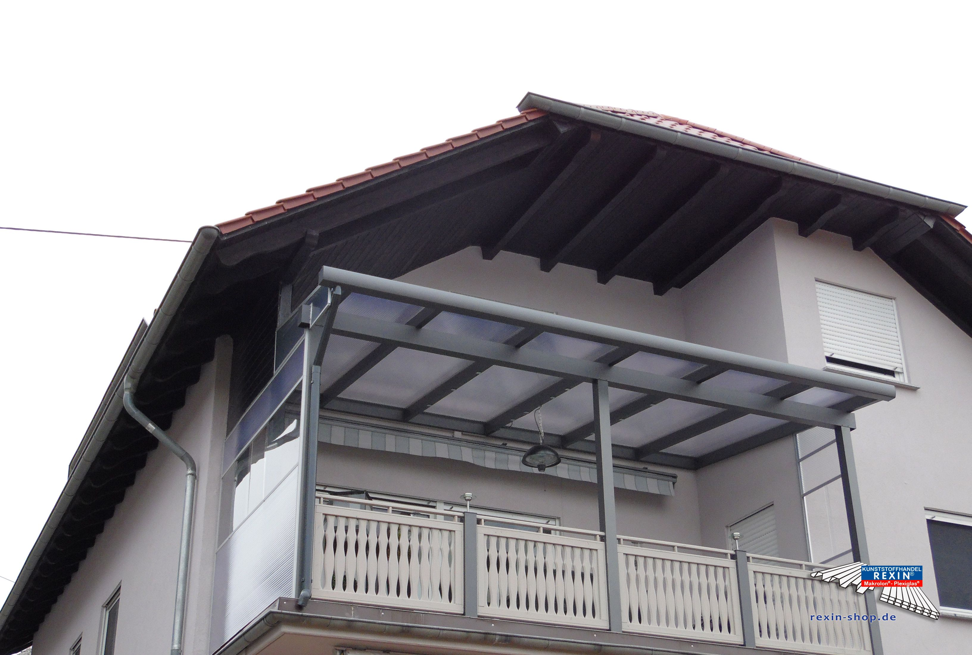 Ein Alu Terrassendach Der Marke REXOclassic 5,79m X 3,5m In Anthrazit