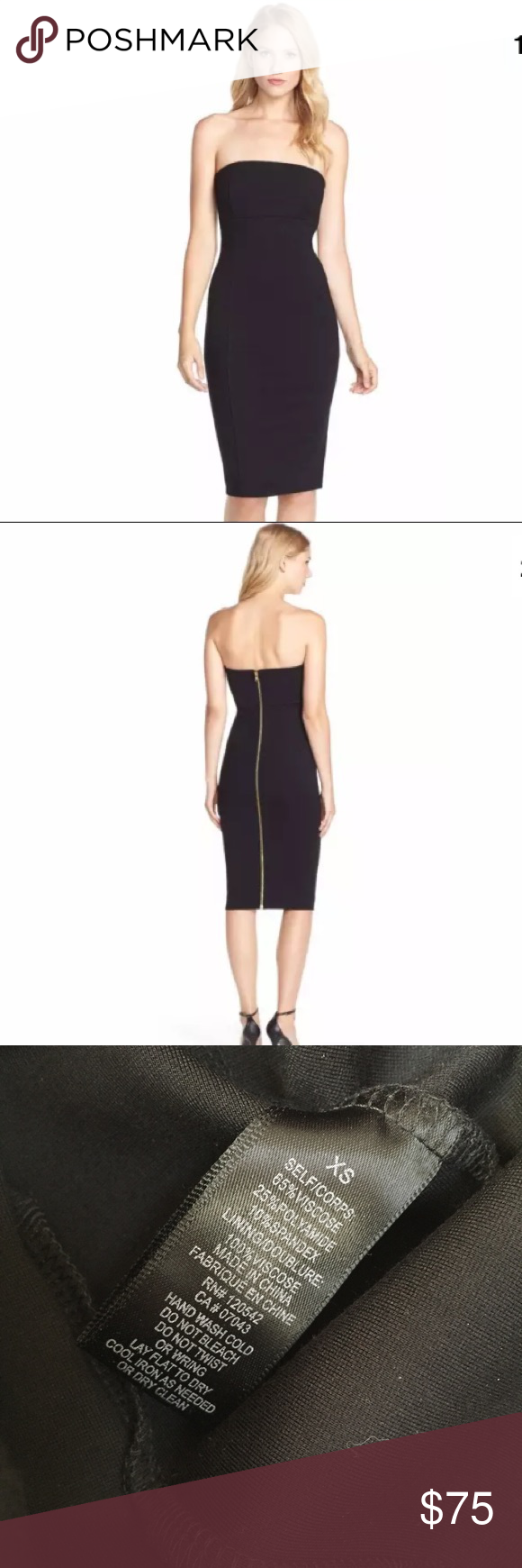 Nordstrom Felicity & Coco Strapless Cocktail Dress   Strapless ...
