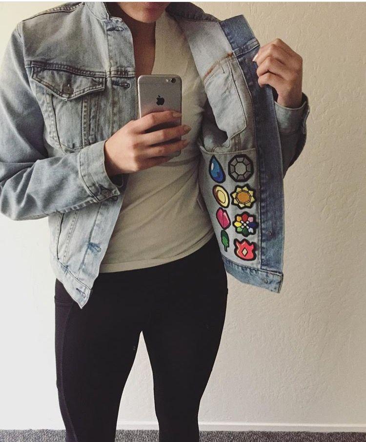 giacca jeans pokemon