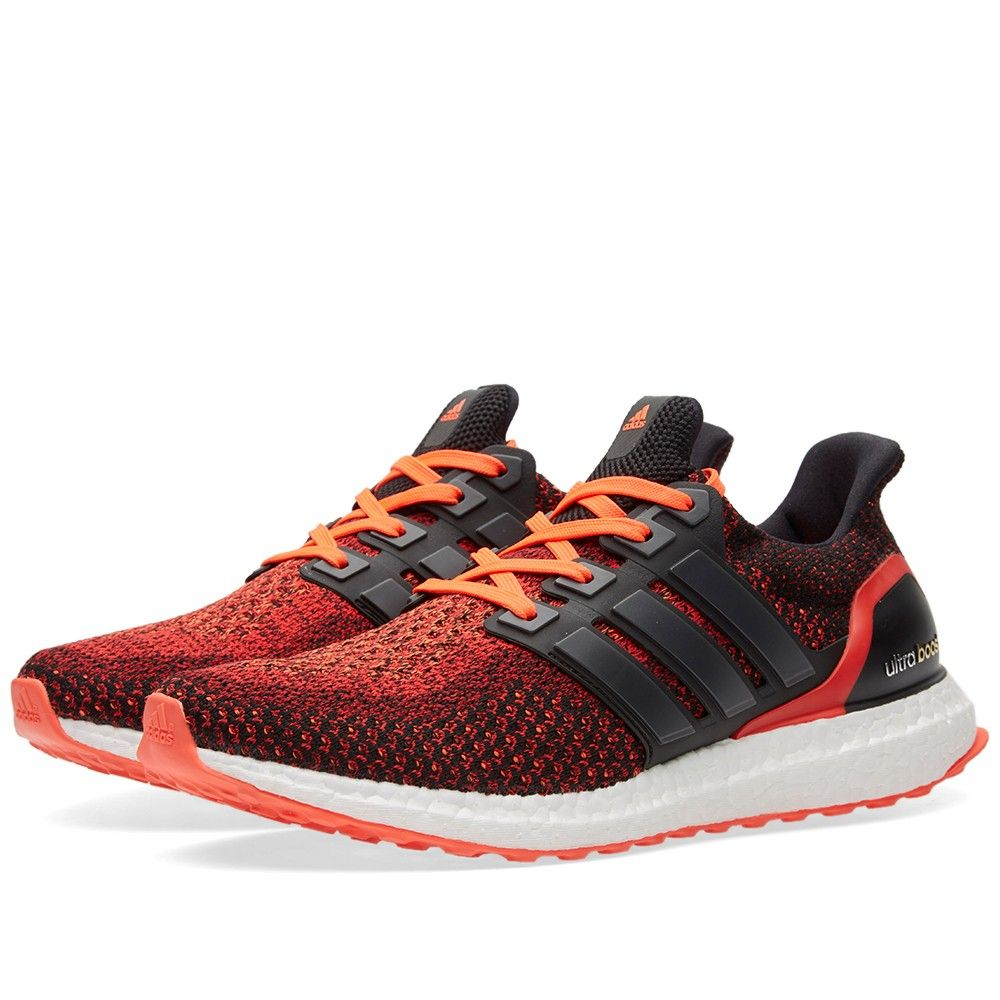 adidas Ultra Boost Black/Solar Red (1) | style trend | Pinterest | Adidas,  Ultraboost and Red black