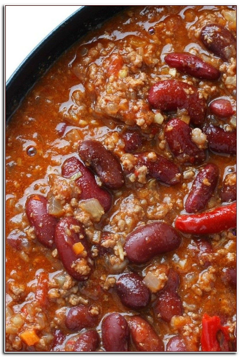 100 Reference Of Quick Chili Recipe Without Tomatoes Quick Chili Recipe Ground Beef Chili Recipes Beef Chili Recipe