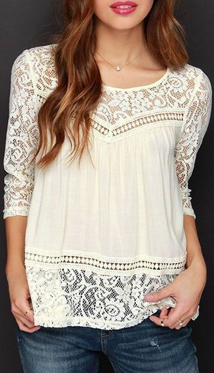 481571c9aa lace & chiffon blouse ❤ | Color and Clothes Combos | Fashion ...