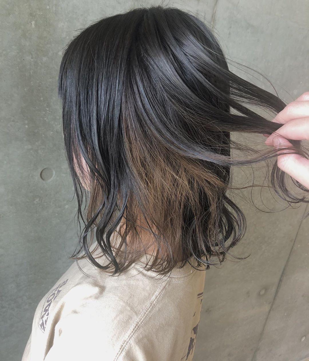 バレないインナーカラー20選 黒髪や暗め髪に合う会社で目立たない色は