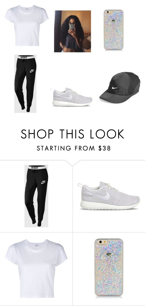 """""""Nike outfit"""" by autreaunna-greathouse ❤ liked on Polyvore featuring NIKE and RE/DONE"""