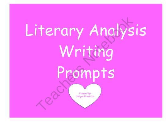 Literary Analysis Writing Prompts Aligned To Common Core From