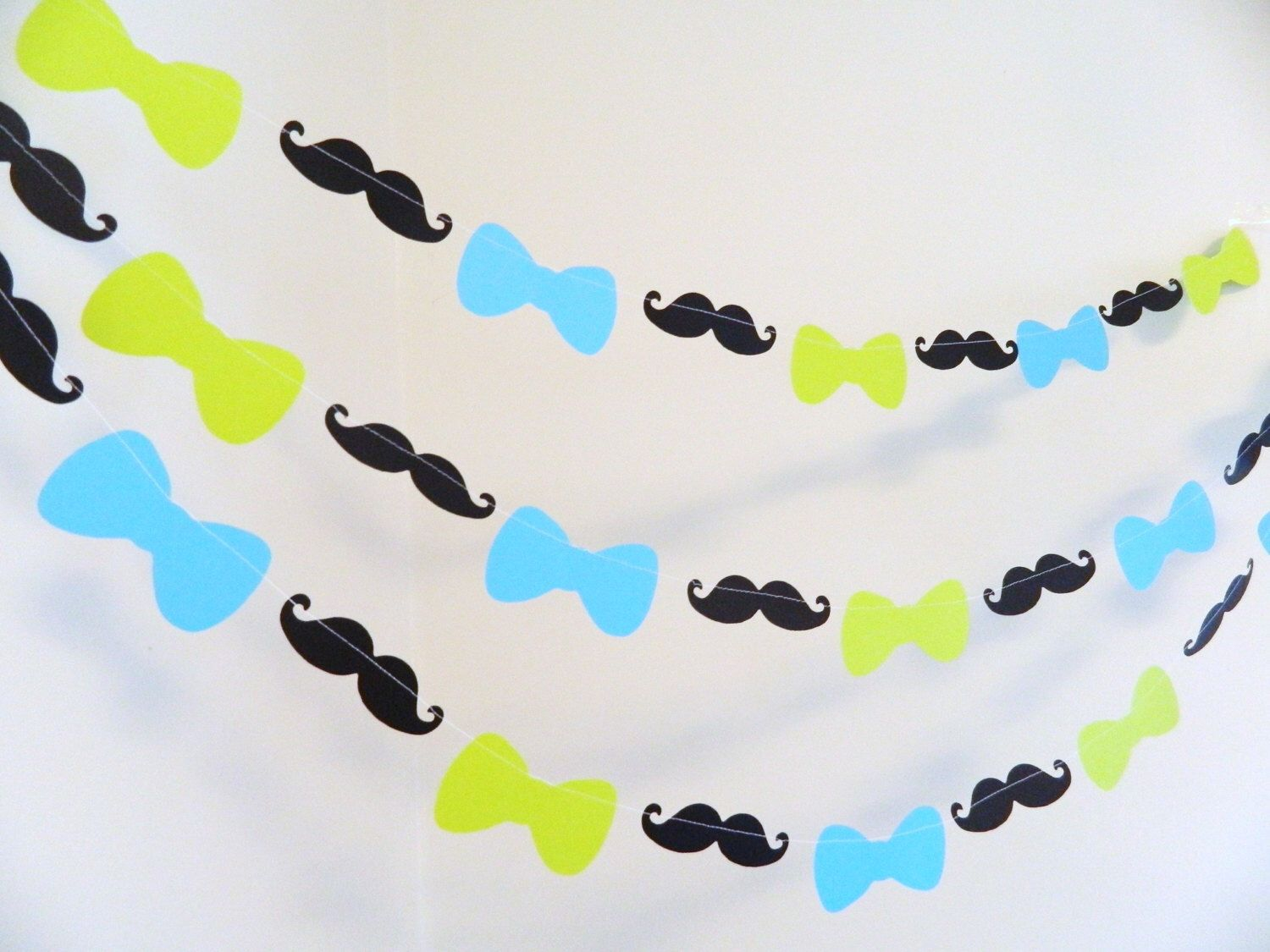 Bowtie Baby Shower Garland  1st Birthday Decor  Mustache Baby Shower  Decorations   Mustache Bash