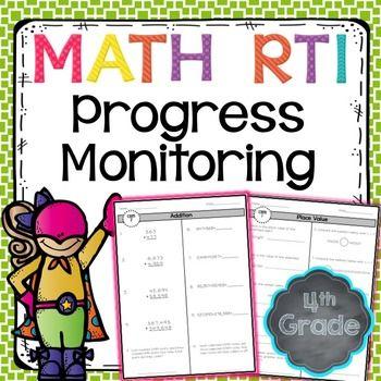 RTI Math Progress Monitoring 4th Grade Ashleigh S TpT