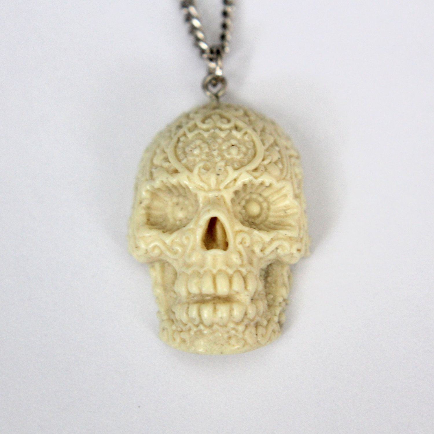 necklace skull new gold pin day the of handmade sugar dead jewelry pendant
