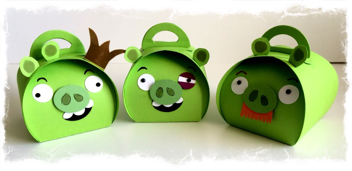 Bad Piggies designed and made by Tracey Grundy - Independent Stampin' Up! Demonstrator using the Curvy Keepsakes die