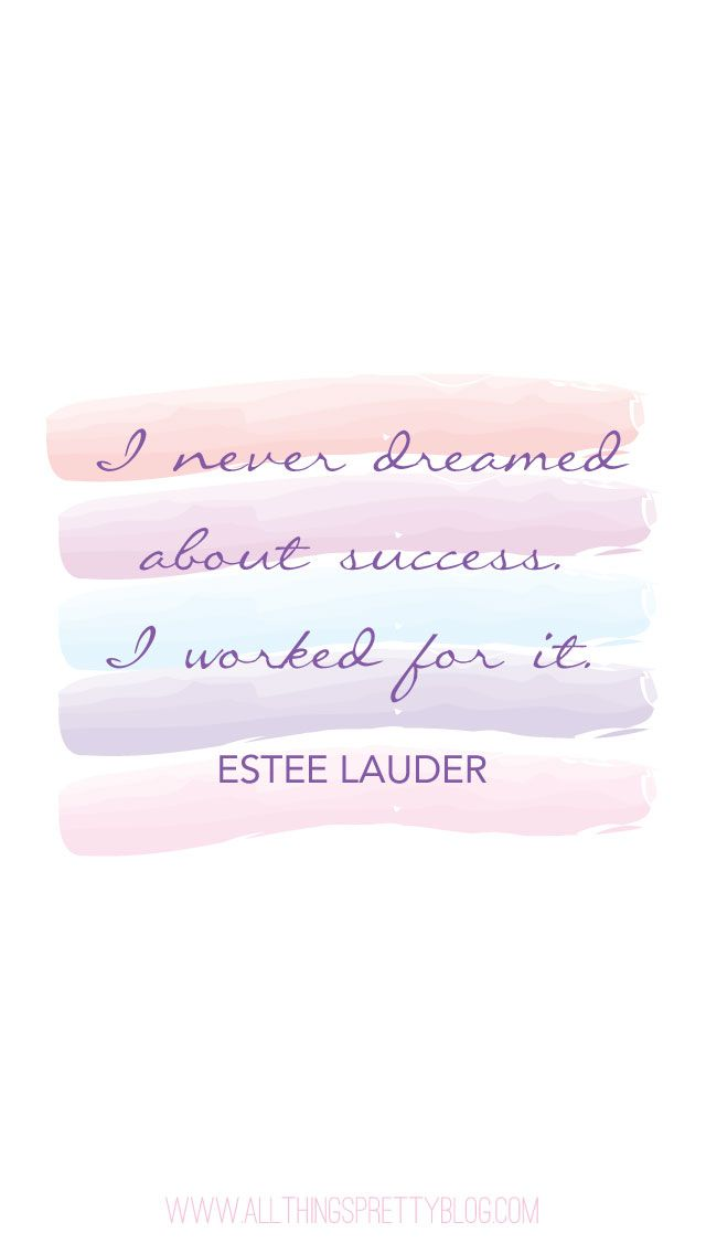 Estee Lauder Watercolour Quote Iphone Phone Wallpaper Background