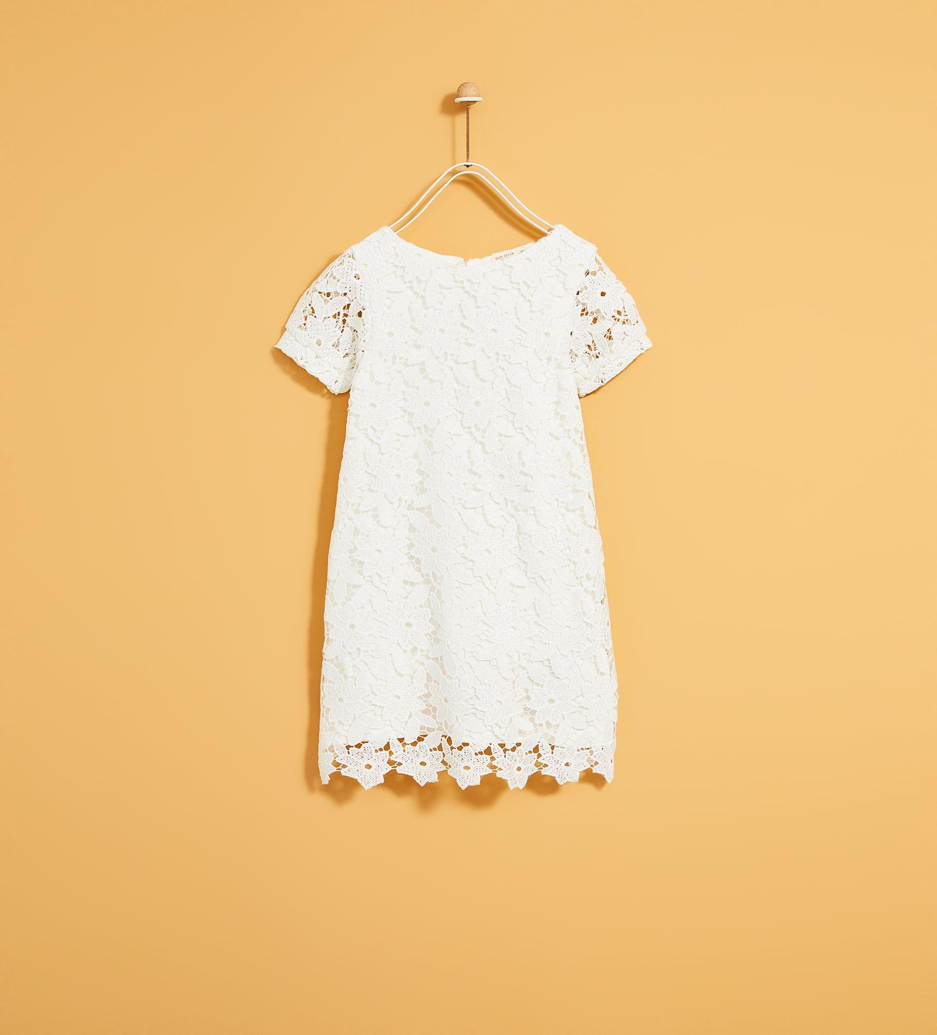 zara - kids - guipure lace dress | kleider, kleid spitze