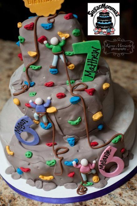 Rock Climbing Cake Cakes And Cupcakes For Kids Birthday