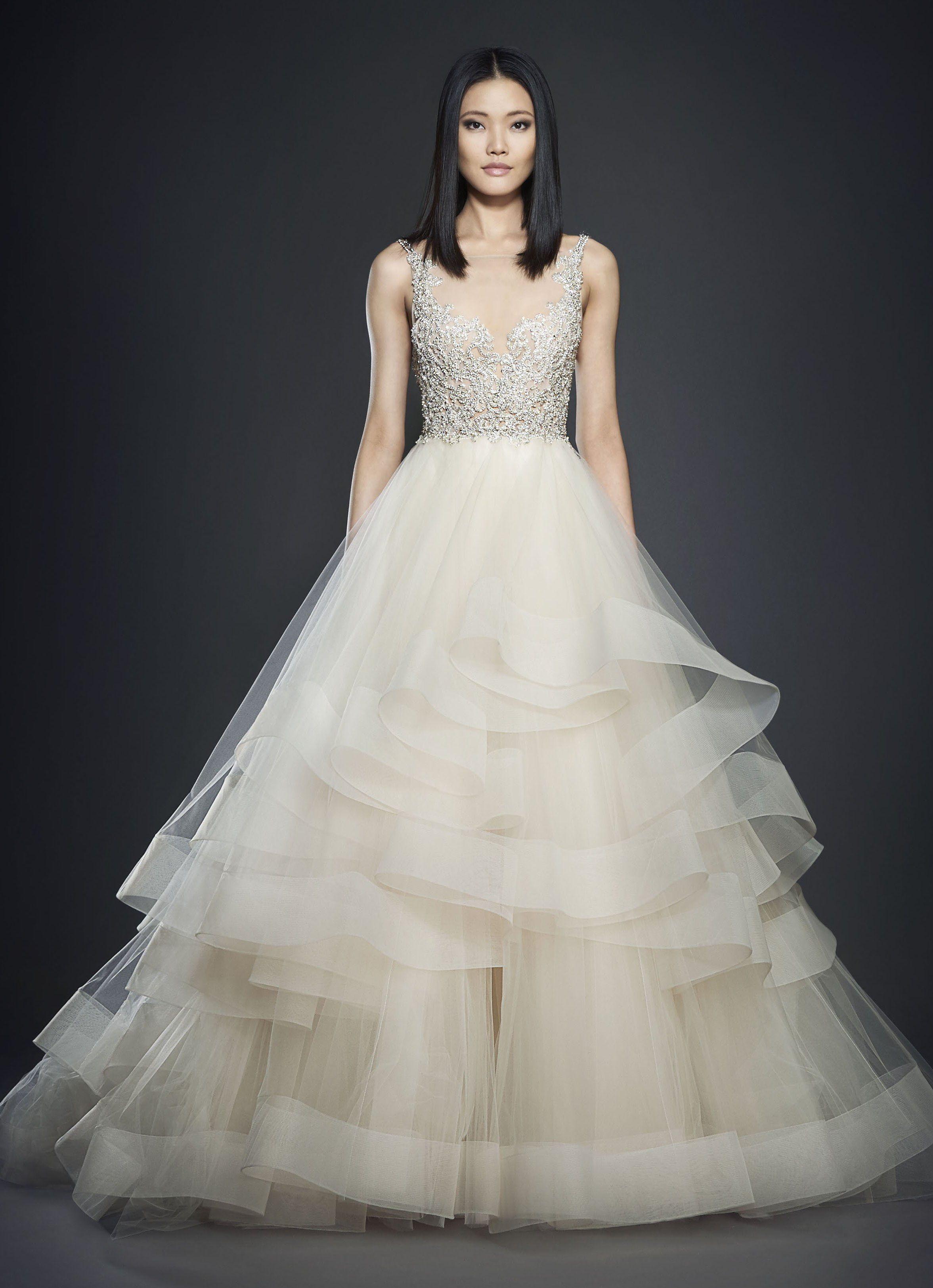 Dress for wedding party female  Lazaro   Fashion Moda  Pinterest  Wedding Wedding dresses