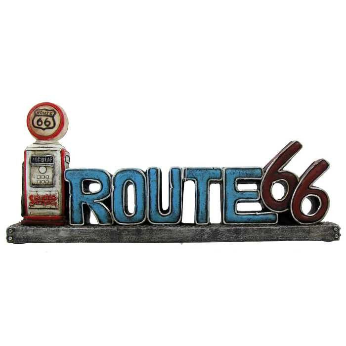 Route 66 Decor with LED Gas Pump Light
