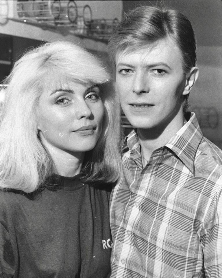 7c8d5c4b Debbie Harry and David Bowie by Chris Stein, 1977.   1977―1979 ...