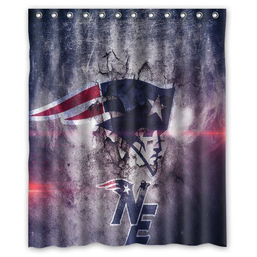 Think Yes Football Team New England Patriots Custom Shower Curtain