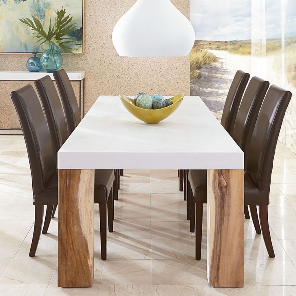 Polystone Dining Table White Dining Table Home Trends Furniture