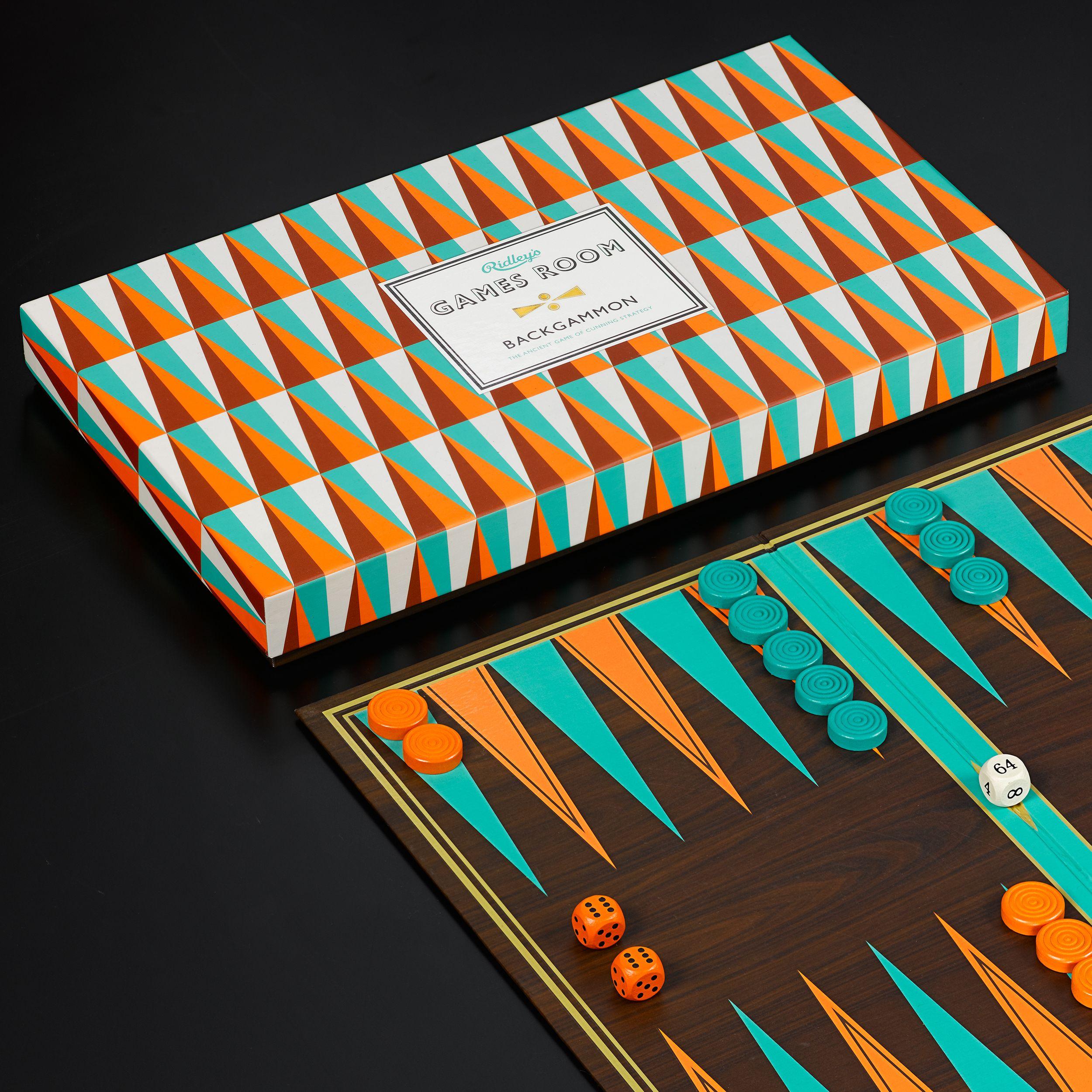Ridley S Games Room Backgammon Striking Design Bold Colours