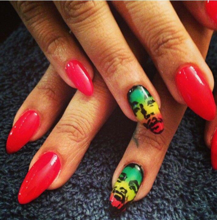 Jamaican nails | Nailed It! | Pinterest | Creative nails, Hair ...