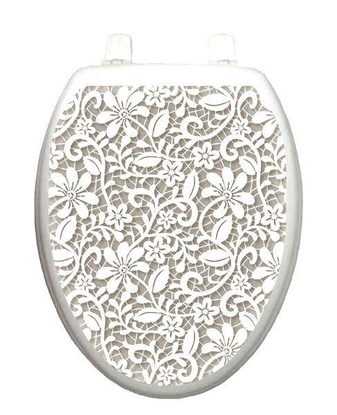 Miraculous Toilet Tattoos Lovely Lace Lid Cover Decor Silver Reusable Squirreltailoven Fun Painted Chair Ideas Images Squirreltailovenorg