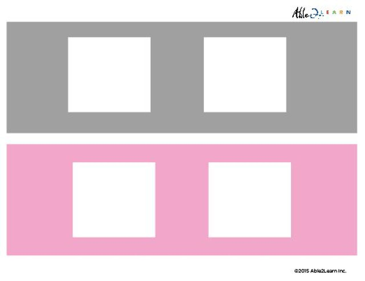 Blank Speech Exchange Strip 2 Piece Card