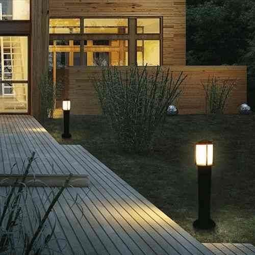 farola aluminio exterior jardin 65cm lampara led incluida