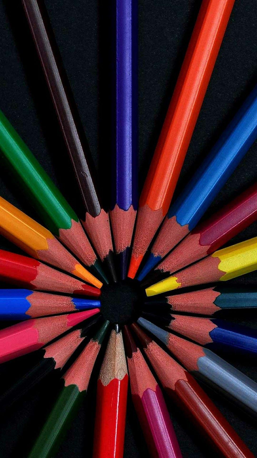Colored pencils wallpaper Colored pencils, Iphone
