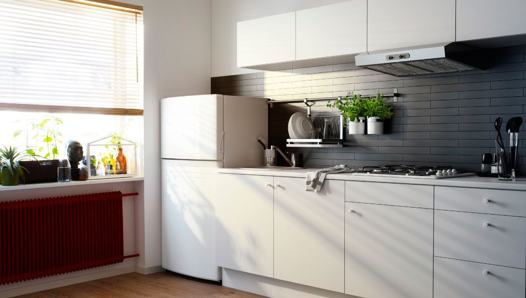 simple kitchen cabinets with refrigerator - Google Search Home - udden küche gebraucht