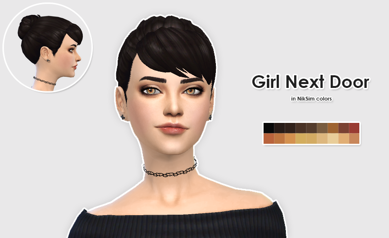 "ellesmea: ""LexiconLuthor Girl Next Door Hair in NikSim Colors A new cute hair by LexiconLuthor, in NikSim's colors ! Download the mesh here, you'll need it ! DOWNLOAD Please tag me if you're using..."