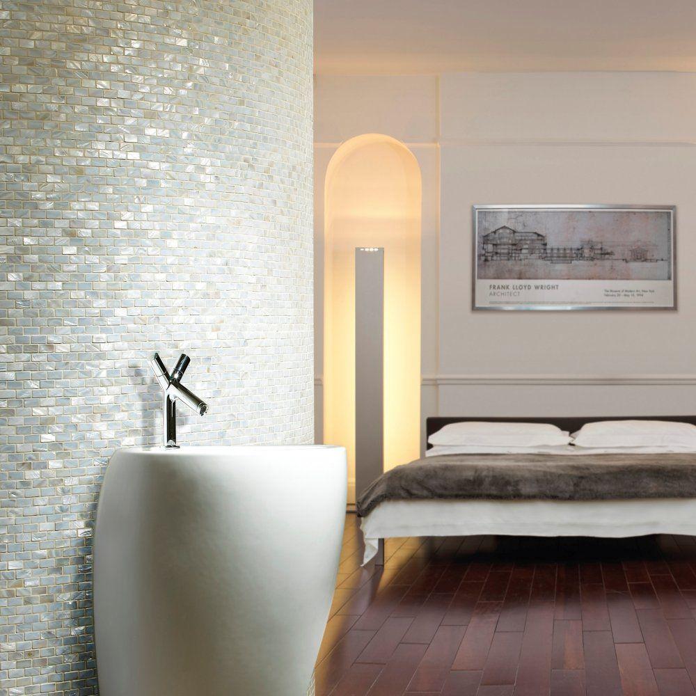 Pearl bathroom tiles - Clical Flagstones Pearl Brick Mosaic On 30 5x30 5cm Sheet
