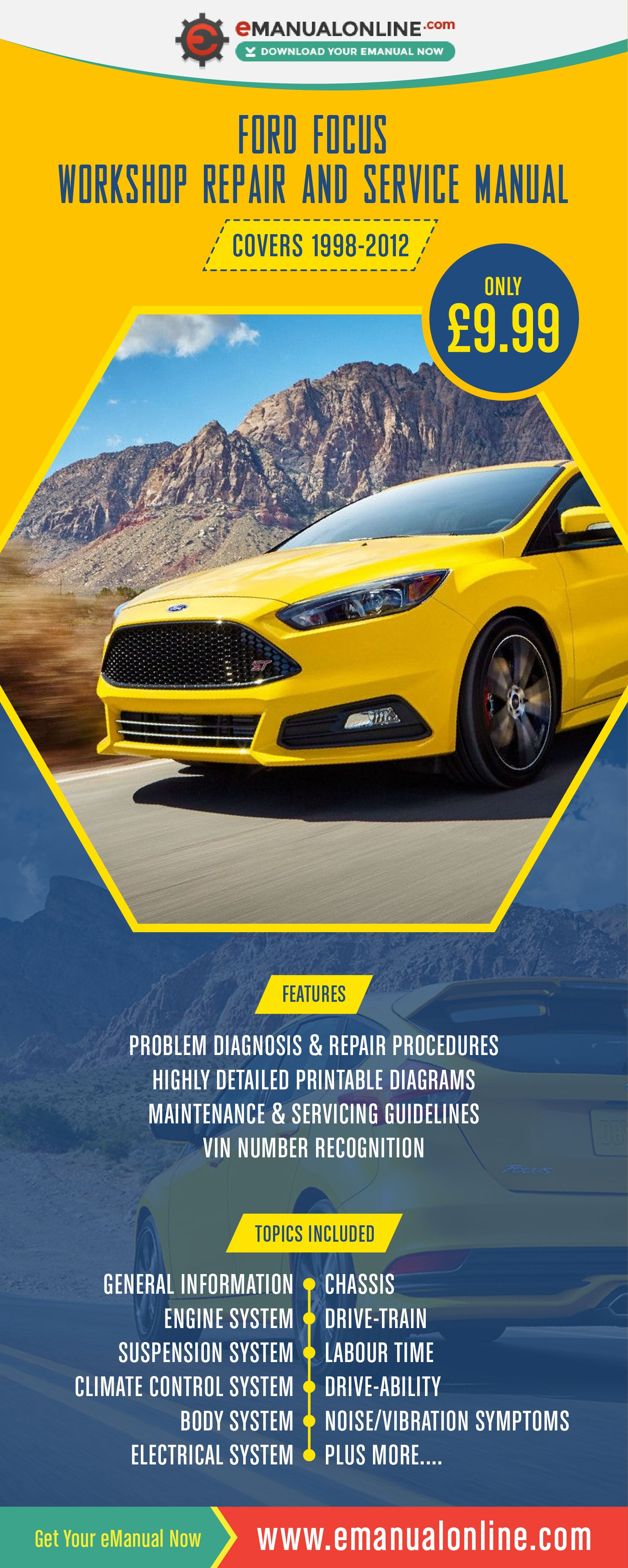 Ford Focus Workshop Repair And Service Manual This Workshop Manual Contains Comprehensive Data On Repair Procedures Diagn Ford Focus Repair Manuals Manual Car