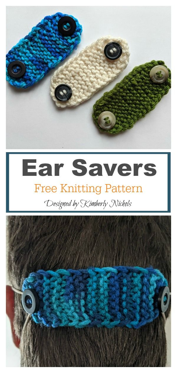 6 Face Mask Ear Savers Free Knitting Pattern