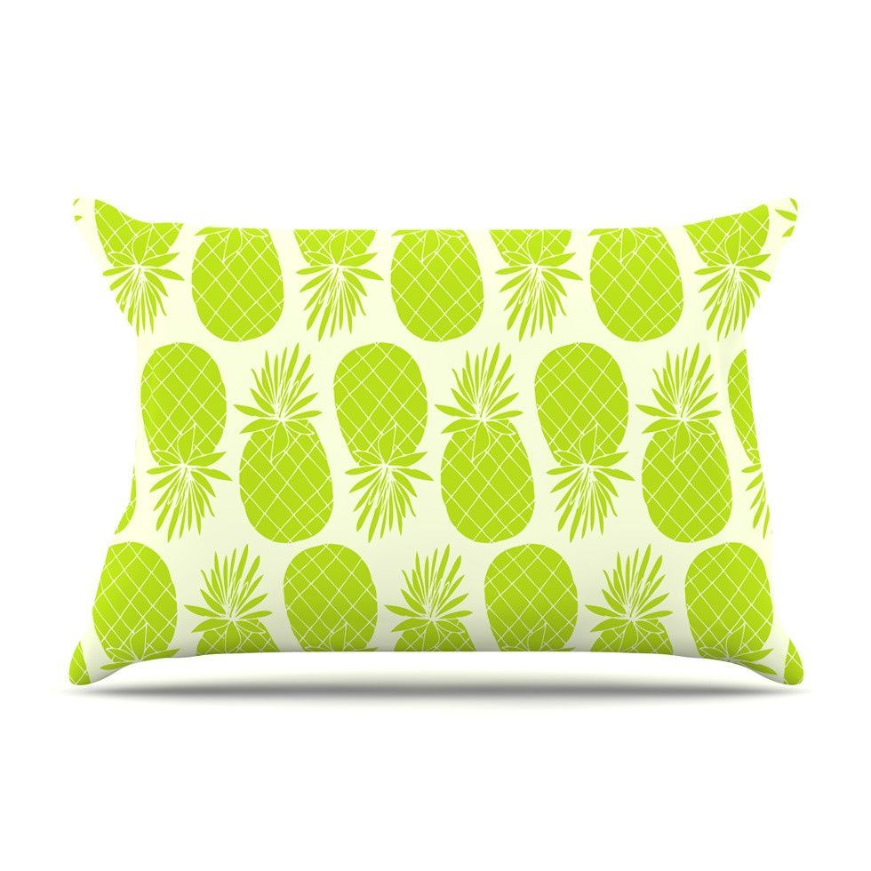 Pinya lime by anchobee woven pillow sham products pinterest