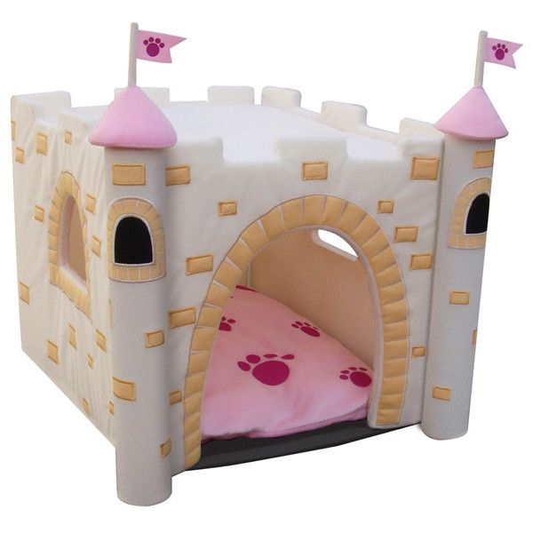Castle Dog House Pink Featuring Polyvore Dog House Diy Outdoor
