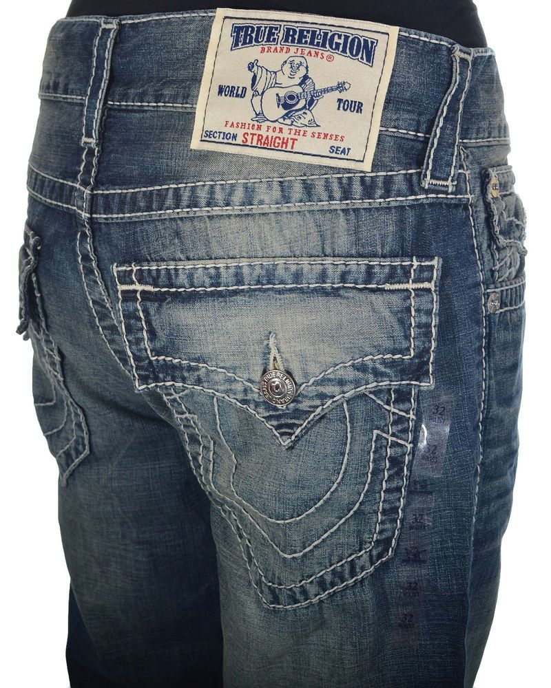 Mens jeans design legends jeans - True Religion Mens Jeans Size 34 Straight With Flaps Big T In Kings Island Nwt