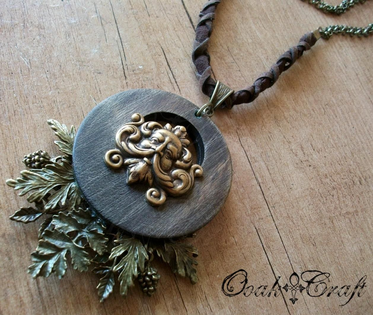 "Ooak☥Craft - 'Secret of trees' necklace > Collar ""Secret of trees"""